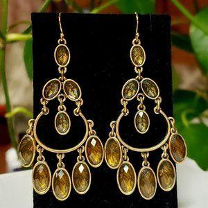 Vintage Gypsy Brass Earrings